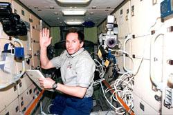 В.И. Токарев на борту МКС
