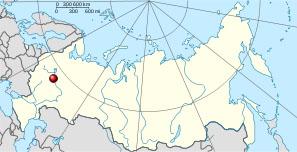 Ростов Великий на карте Российской Федерации