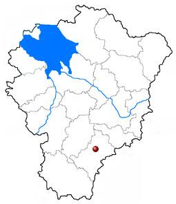 Ростов Великий на карте Ярославской области